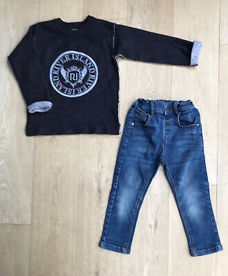 River Island Mini Next Baby Boys Jeans Outfit Sweatshirt Jumper Top 18-24 Months