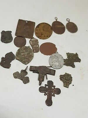 Superb Ancient Lot Of 16 Byzantine Bronze Artifacts