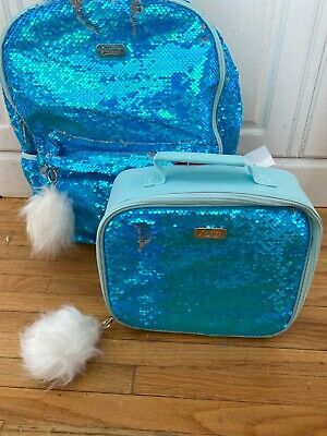 """NWT Justice Initial /""""M/"""" Lunch Box Blue"""