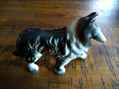 Vintage Ceramic Collie Dog Figurine - Collectible Gift