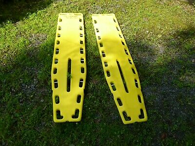 Lot of 2 - NAJO-LITE Backboard Yellow Spinal Immobilization 6FT Length