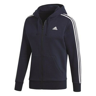 Adidas 3 Strisce Full Zip Cappuccio Francese,Giacca Sportiva Felpa Giacca S98791