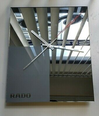 """*VINTAGE* RADO Watch Wall Clock dealer only display  LARGE Size 18"""" ACROSS"""