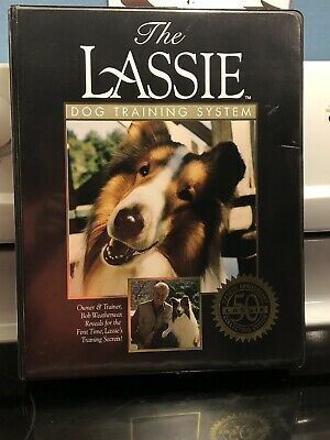 "Vintage 1994 ""The Lassie "" Dog Training System  VHS With Books"