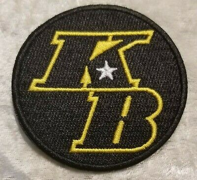 Kobe Bryant KB Embroidered Iron/Sew on Patch ~ Free ship` US seller!