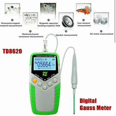NEW Gauss Meter Surface Magnetic Field Tester Magnetic Flux Meter mT/Gs TD8620