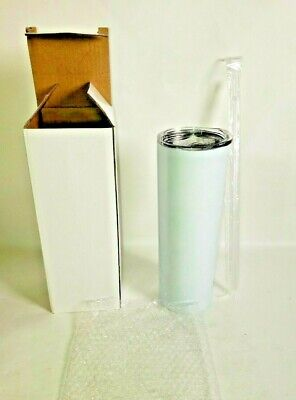 20oz Sublimation Blank SKINNY TUMBLERS Stainless Steel WHITE 10 PACK SHIPS FAST