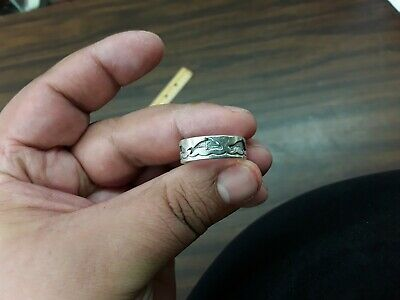 sterling silver dolphin band ring signed ott size 10.5