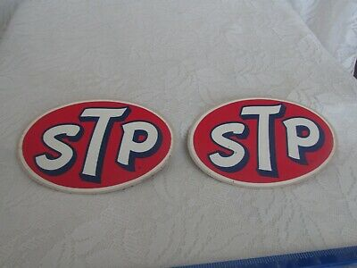 NOS! Two STP Racers Edge Advertising Decals Emblems