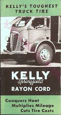 Vintage Kelly's Toughest Truck Tire Brochure Kelly Springfield Rayon Cord Minty
