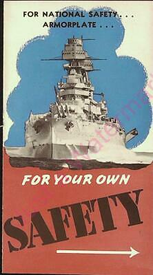 Vintage Kelly Springfield For National Safety Armorplate For Your Own Safety