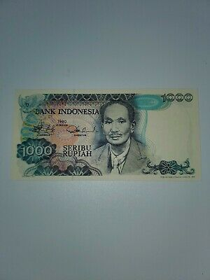 1980 Bank of Indonesia 1000 Rupiah Note Mint Condition Uncirculated # PLZ127409