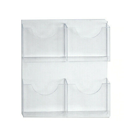 Letter Brochure Holder 18.875 W x 21.5 H Inches with 4 Pocket - Lot of 2