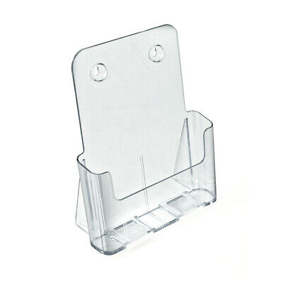 Brochure Holder 9.1875 W x 3.125 D x 10.75 H Inches for Wall - Set of 2