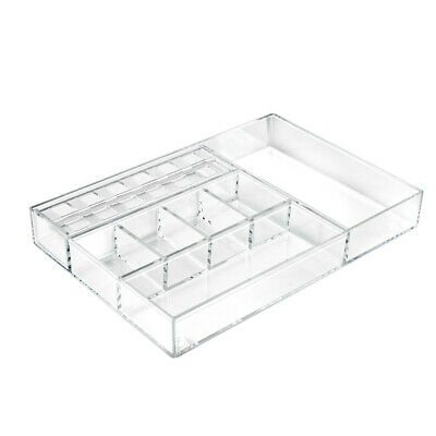 Cosmetic Large Organizer 14.375 W x 10 D x 2 H Inches for Counter - Set of 2
