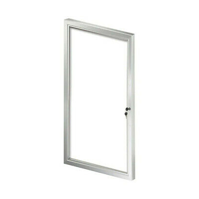 Enclosed Medium Message Board 23.03 W x 42.32 H Inches with Lock/Key