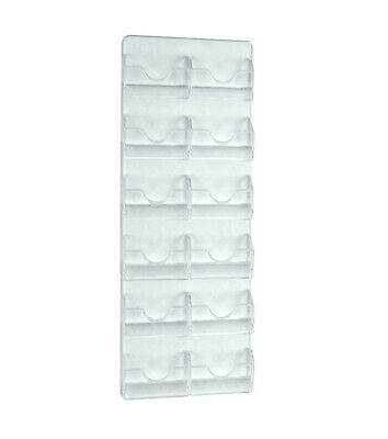 Wall Mount Card Holder 8.25 W x 18 H Inches with 12 Pockets - Set of 2