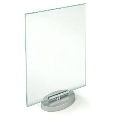 2 Sided Acrylic Revolving Sign Holder Frame 8.5 W x 11 H Inches - Lot of 2