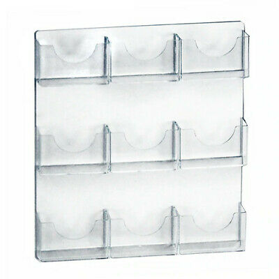 Wall Mount Brochure Holder 19.375 W x 23.5 H Inches with 9 Pockets - Lot of 2