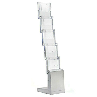 Zig-Zag Brochure Holder 10.28 W x 13.39 D Inches with 5 Tier
