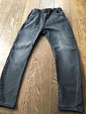 Boys Dark Grey Tapered Slouch River Island Jeans Age 12 Years