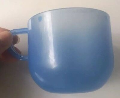 Kids blue plastic cup with handle