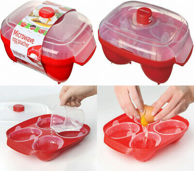 Sistema Microwave Egg Poacher | Up to 4 Eggs | Leakproof Cups...