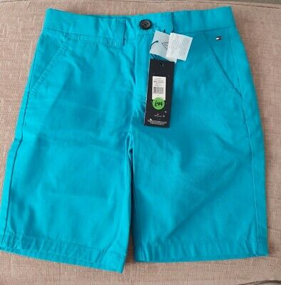 Boys Tommy Hilfiger Blue Shorts -  Age 8 (128) BNWT Adjustable Waist
