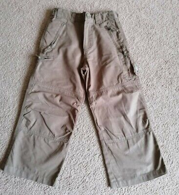 Boys Brown John Rocha Cargo Trousers Size Age 4 Years In Exc Condition