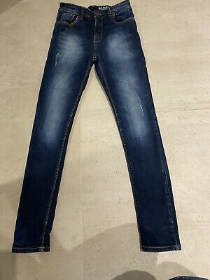 Boys Next Blue Denim Skinny Jeans Age 11. Excellent Condition.