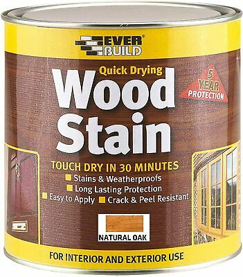 Everbuild Quick Drying Professional Solvent Free Satin Finish Wood 750 ml