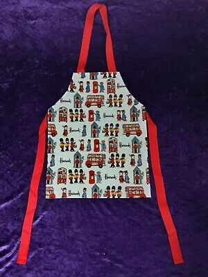 Half Price Sale Childs Harrods Bears On Bus New Cotton Coated Vinyl Apron