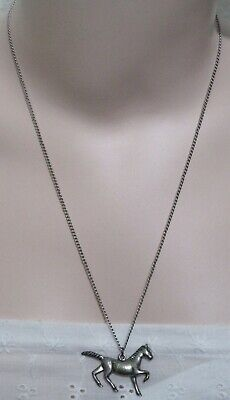 Running Horse Necklace 22 Inch Chain