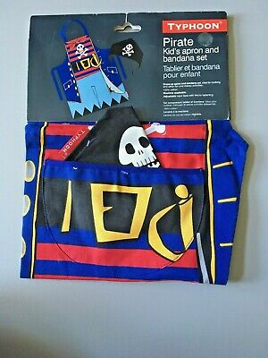 Children Apron & Bandana Pirate Set Ideal For Cooking Art New Children Cooking