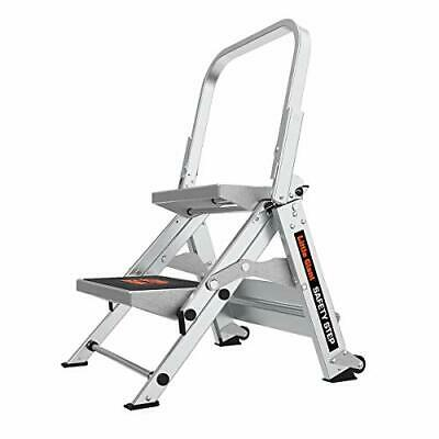Little Giant Ladders Safety Step 2-Step 2 foot Step Stool Aluminum Type 1A 30...