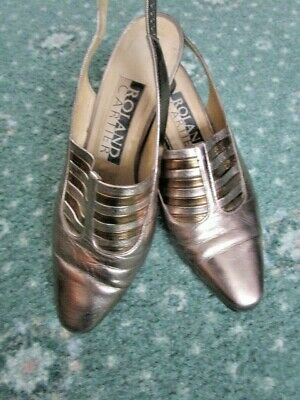 1 pr Vintage Roland Carter Leather Sling Back shoes size 36 (small) Good Cond.