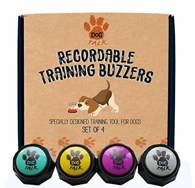 Recordable Training Buzzers - Set of 4. Dog & Puppy Speech Training Buttons.
