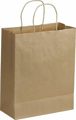 250 Recycled Kraft Gift Merchandise Paper Bags Shoppers Lindsey 10 x 5 x 13""