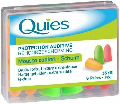 Quies Rubber Foam Ear Plugs 6 Pairs by