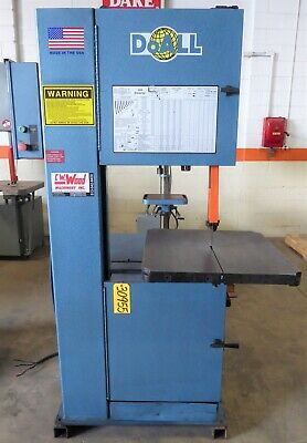 "20"" DoAll Vertical Band Saw 2013-V, 13"" Under Guide, 55-5200 FPM, 26"" x 26"" Tbl."