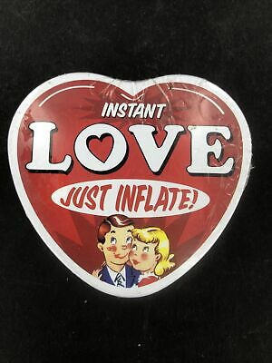 Instant Love - Inflatable Heart in Tin - Blow Up Heart Emergency Heart