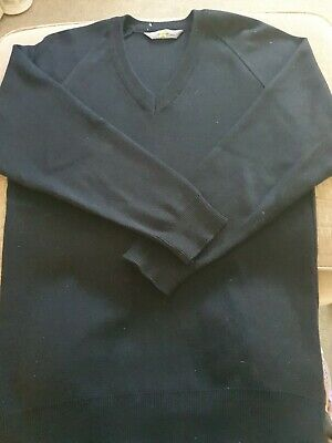 Magicfit School Jumper V Neck Navy Size 32""