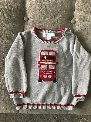 The Little White Company Boys Jumper. 6-9 Months