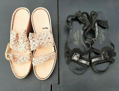 1940s/50s vintage ladies sandals - x2 pairs