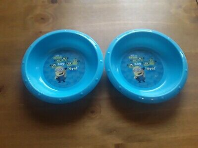 Minions bowls x2. Used but in lovely condition. 18cms across.
