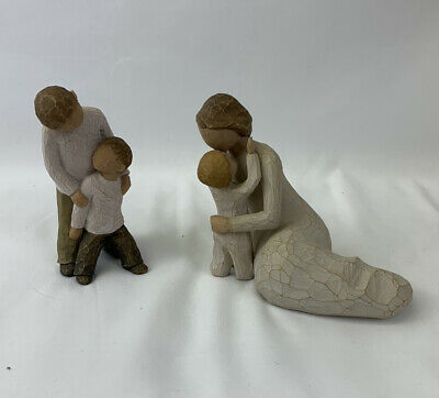 Willow Tree Ornamental statues 2 figures child's touch and brothers, good cond
