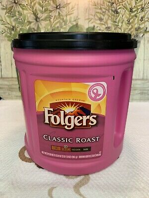 Folger's Pink Coffee Can 2008/2009