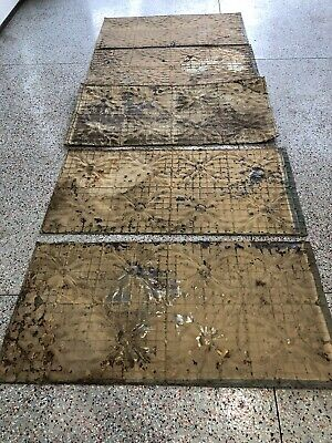 Tin Ceiling tiles, Antique, Lot of 5,  2' X 4', VG Cond, from 1880's