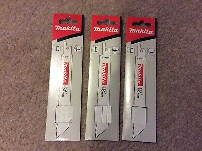 Makita P-04911 reciprocating saw blades 150mm 3  x 5 pack
