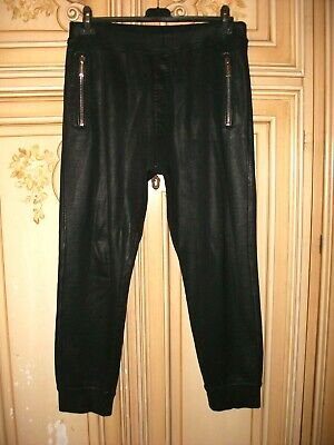 Authentic Dsquared² waxed sweatpants size L AMAZING men pants gym suit tracksuit
